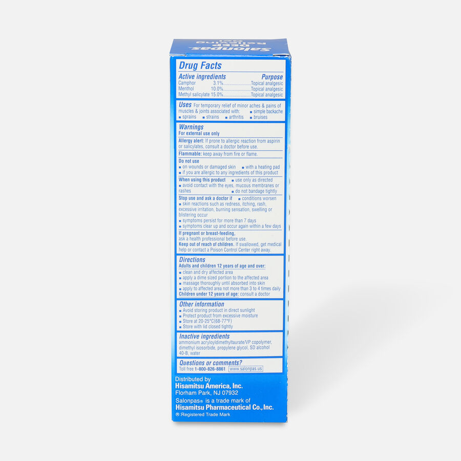 Salonpas Deep Pain Relieving Gel, 2.75 oz, , large image number 1
