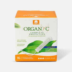 Organyc Compact Tampons with Eco-Applicator, 16ct