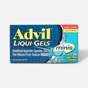 Advil Pain Reliever Fever Reducer Mini Liquid Gels, 80 ct