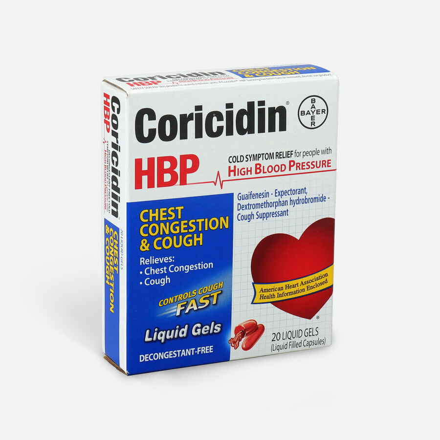 Coricidin HPB Chest Congestion & Cough, Liquid Gels, 20ct, , large image number 1