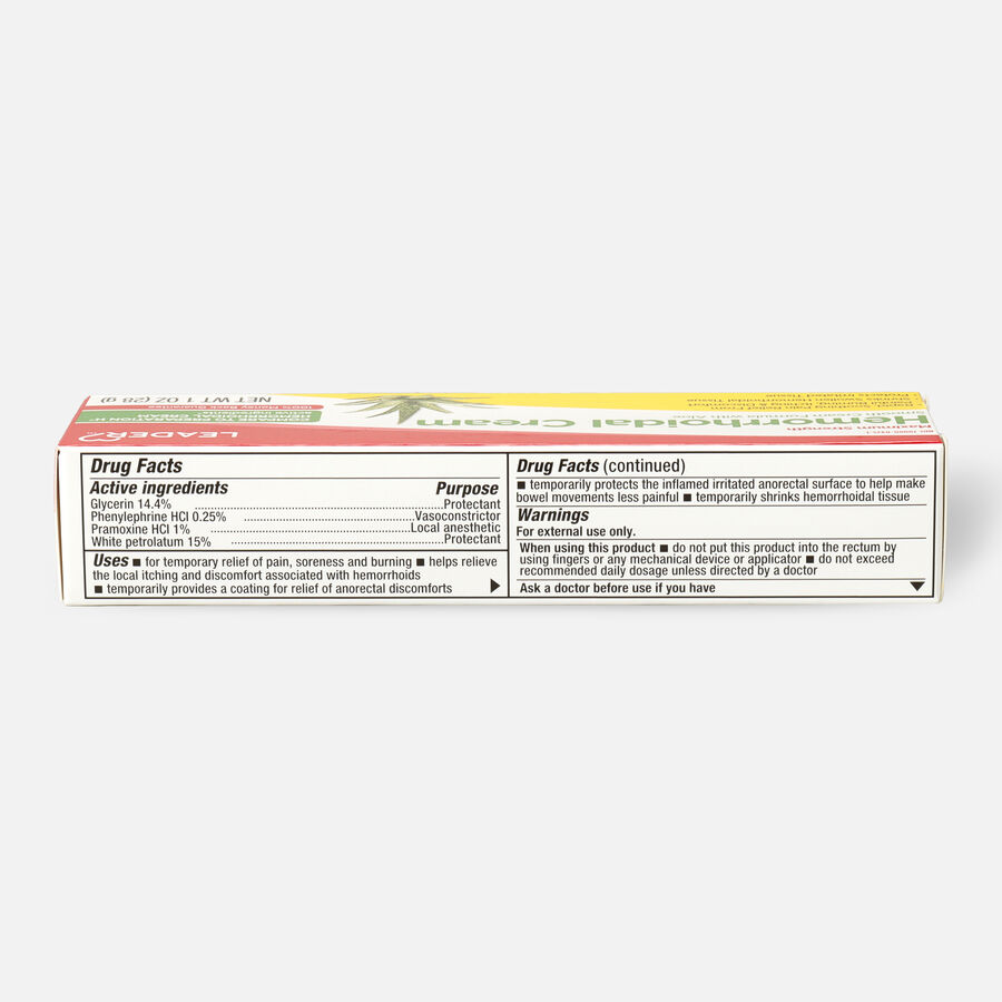 LEADER™ Hemorrhoidal Cream Maximum Strength 1 oz, , large image number 1