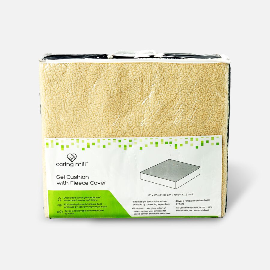"""Caring Mill™ Gel Cushion with Fleece Cover – 18"""" x 16"""" x 3"""", , large image number 0"""