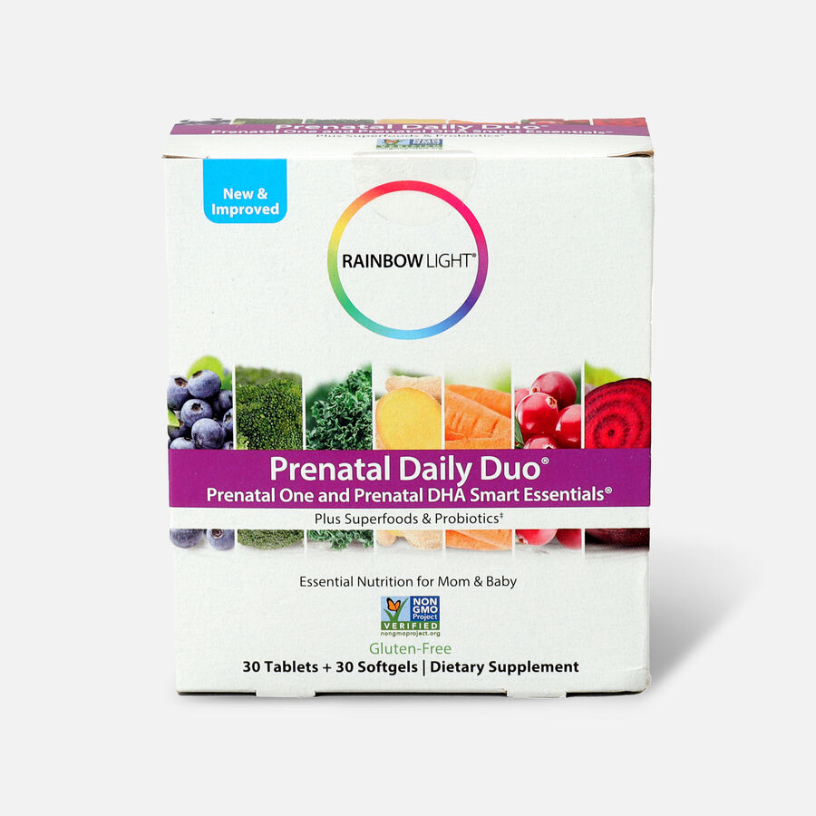 Rainbow Light Prenatal Daily Duo: Prenatal One + DHA 30 tab + 30 SG, , large image number 0