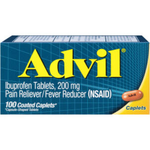 Advil Pain Reliever and Fever Reducer Coated Caplets, 200mg, 100 ct