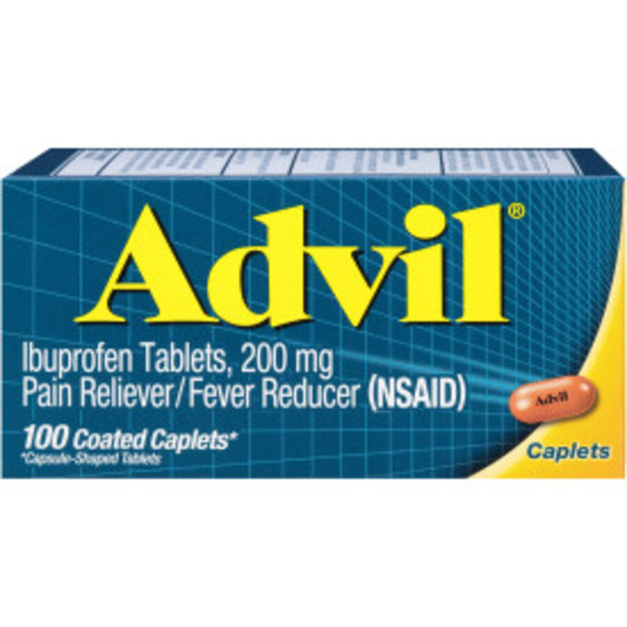 Advil Pain Reliever and Fever Reducer Coated Caplets, 200mg, 100 ct, , large image number 0