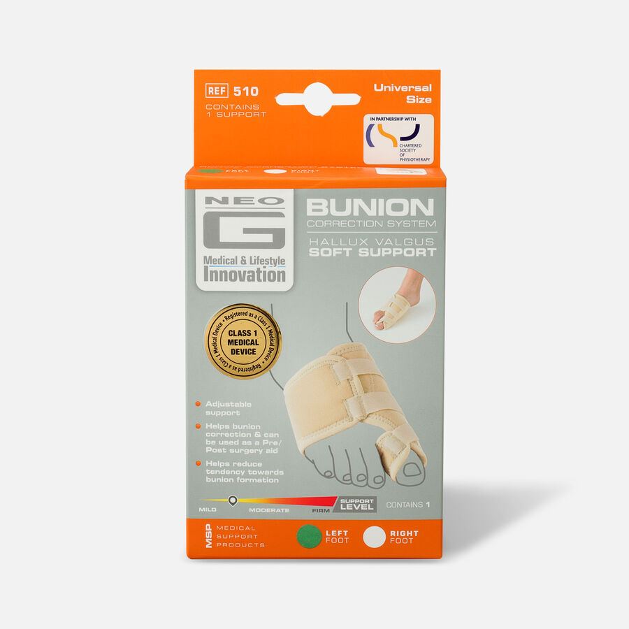 Neo G Bunion Correction System, Hallux Valgus Soft Support, One Size, Left, , large image number 0