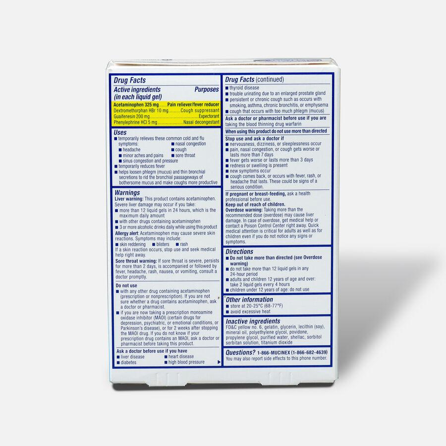 Mucinex Fast-Max Liquid Gels Cold and Flu, 16 ct, , large image number 1