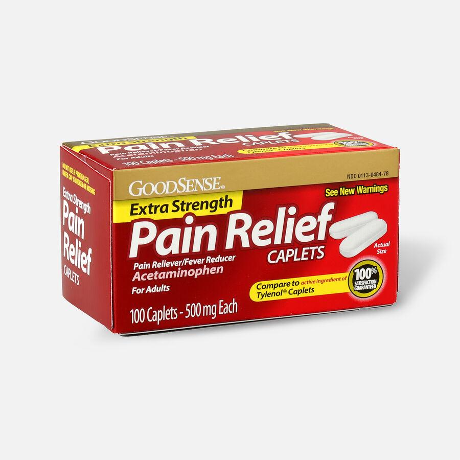 GoodSense® Extra Strength Acetaminophen 500 mg Caplets, 100 ct, , large image number 2