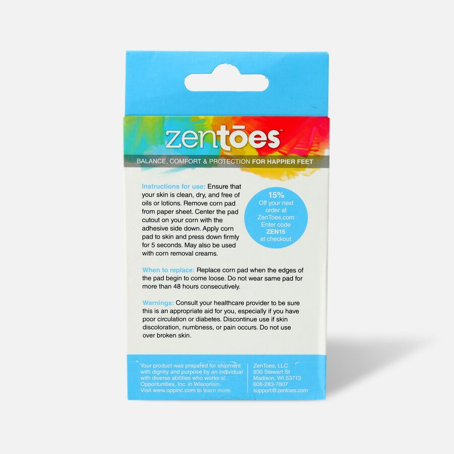 ZenToes Corn Cushions - 72 Pack, , large image number 1