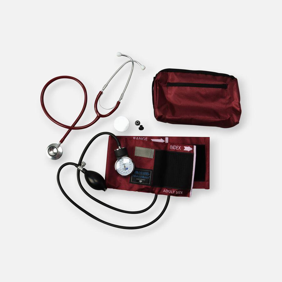 MatchMates Dual Head Stethoscope Combination Kit, Burgundy, , large image number 0