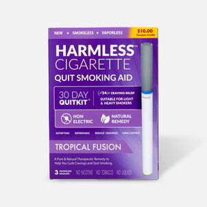 Harmless Cigarette Quit Smoking Aid, 30 Day Quit Kit, Tropical Fusion