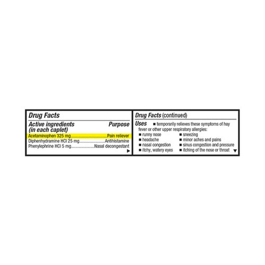 GoodSense® Severe Allergy Relief Plus Sinus Headache Caplets, 20ct, , large image number 2