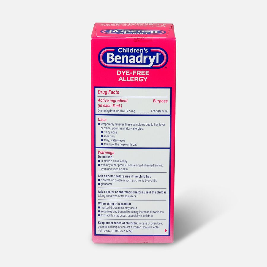 Children's Benadryl Oral Solution, Bubble Gum Flavored, 4 fl oz, , large image number 1