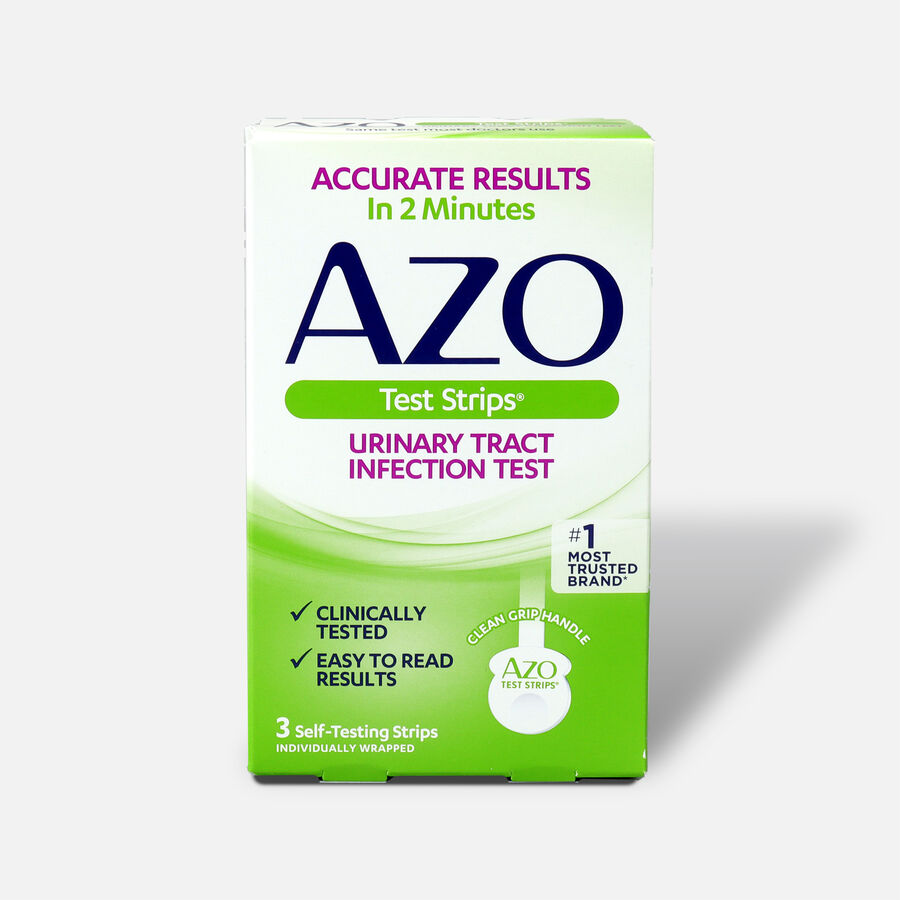 Azo Urinary Tract Infection Test Strips with Handle, 3 ct, , large image number 0