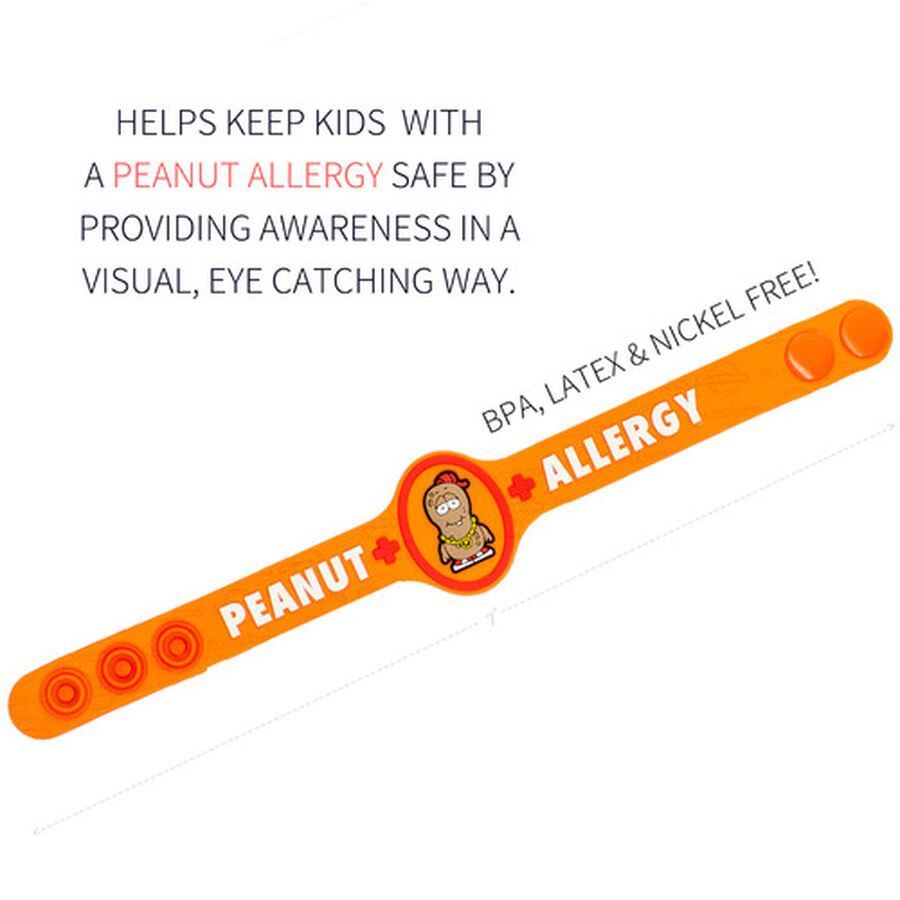 AllerMates Children's Allergy Alert Bracelet - Peanut, , large image number 1