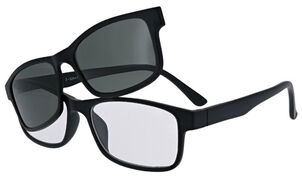 Sunglass Reader with Magnetic Detachable Polarized Lens, +2.50, Black/G15