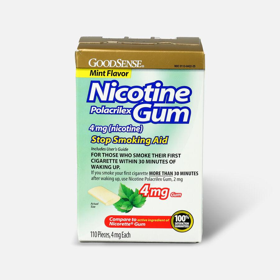 GoodSense® Nicotine Polacrilex Gum, Uncoated Mint Flavor, USP 4 mg (nicotine), 110 ct, , large image number 0