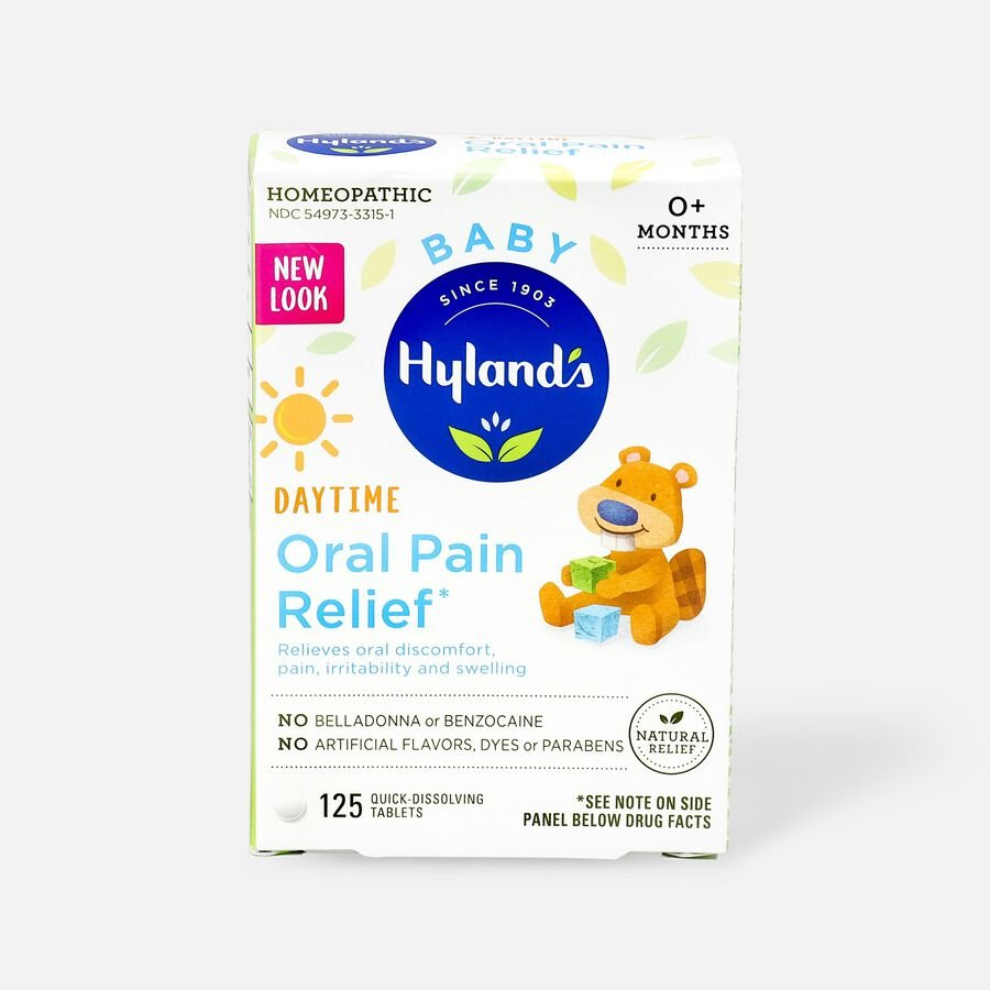 Hyland's Baby Oral Pain Relief Tablets, 125 ct, , large image number 0