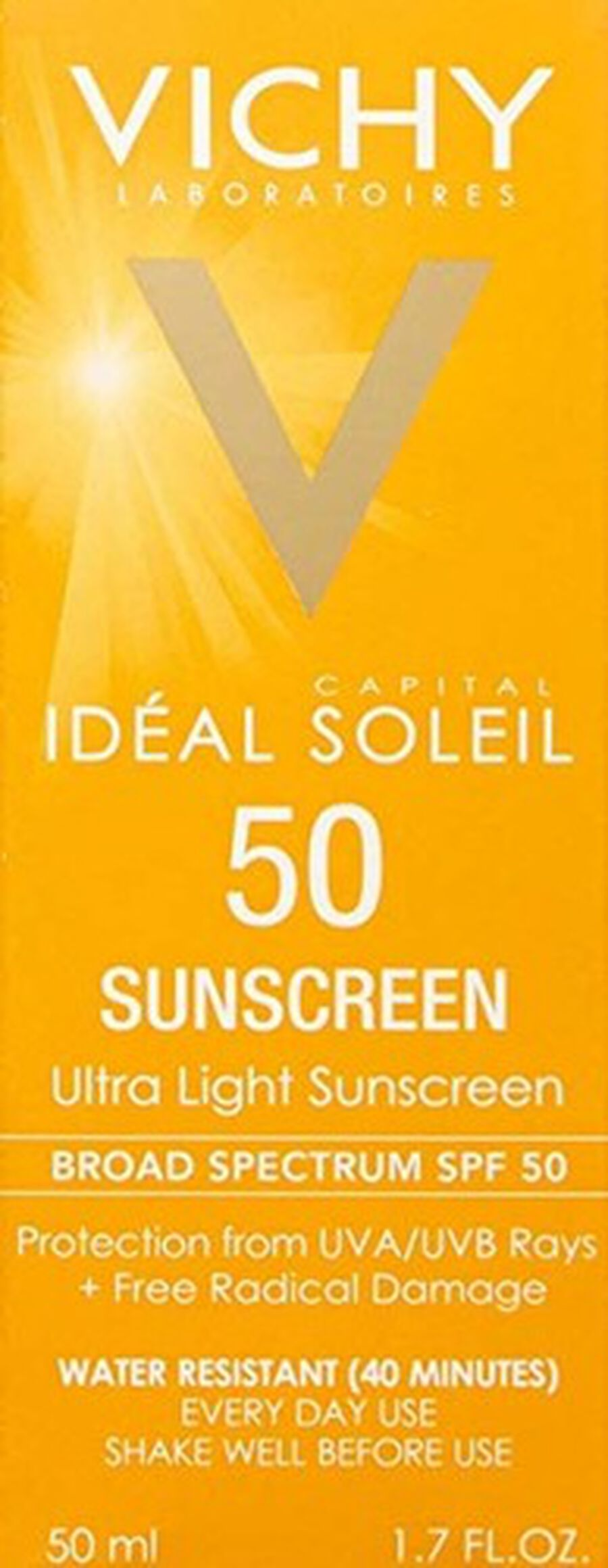 Vichy Idéal Capital Soleil SPF 50 Ultra-Light Face Sunscreen with Antioxidants and Vitamin E, 1.7 Fl. Oz., , large image number 2