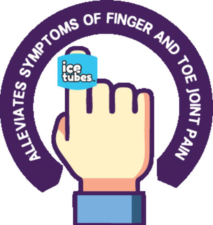 Icetubes™ Finger Tubes, Roll-On Cold Compression, Blue, , large image number 3