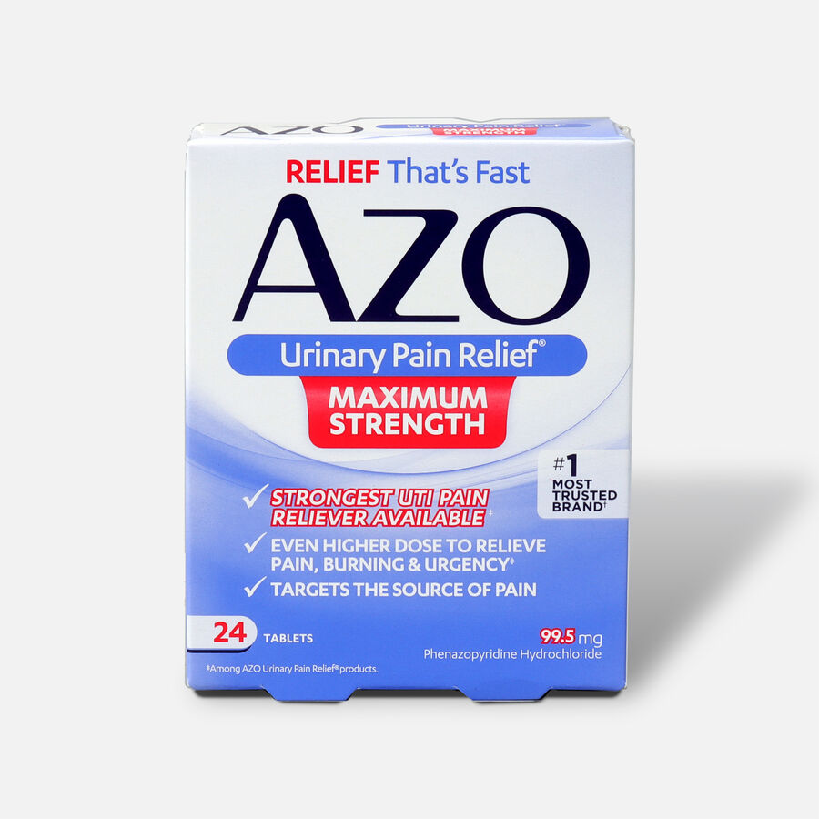 AZO Urinary Pain Relief Maximum Strength Tablets, 24 ct, , large image number 0
