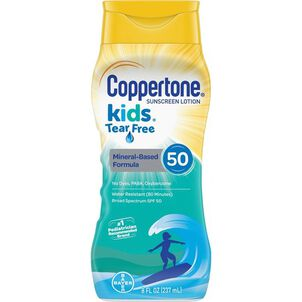 Coppertone Kids Mineral-Based Tear Free Sunscreen Lotion, Spf 50, 8 Oz