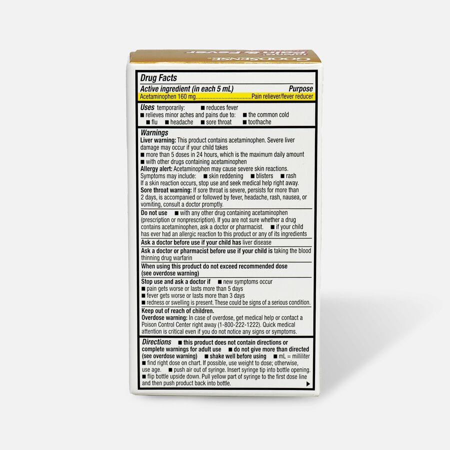 GoodSense® Infants' Pain & Fever Relief 160 mg, Cherry Flavor, 1 fl oz, , large image number 1