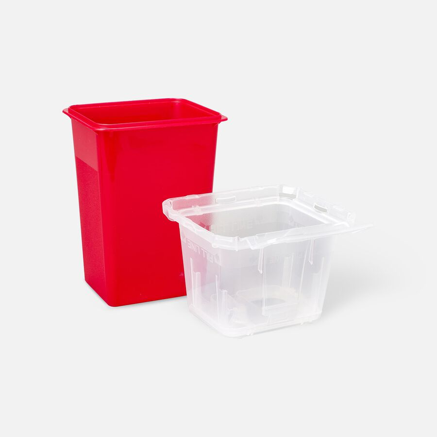 """1.5 Qt Nestable Sharps Container, 9"""" X 4.5"""" X 4"""", 1 ea, , large image number 1"""