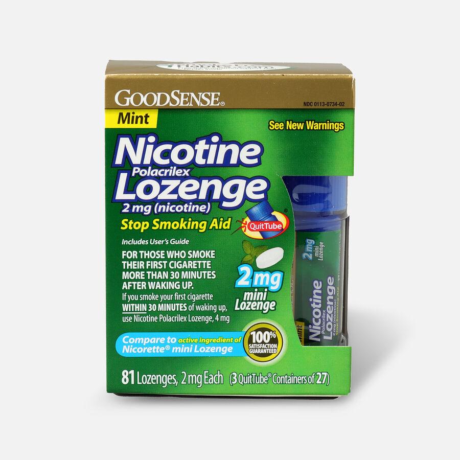 GoodSense® Nicotine Mini Lozenge Quit Tube Mint 2 mg, 81 ct, , large image number 0