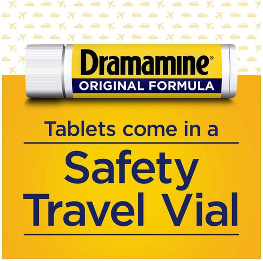 Dramamine Motion Sickness Relief Tablets, Original Formula, 36 ct, , large image number 1