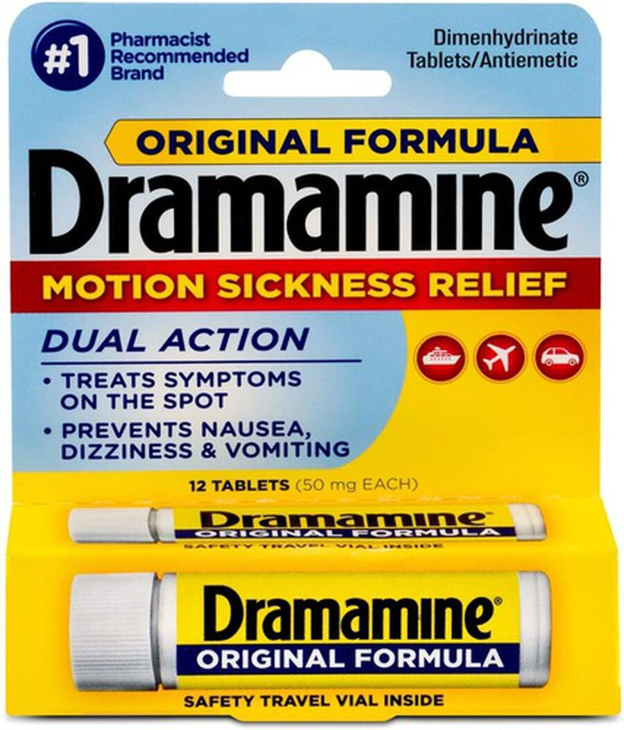 Dramamine Motion Sickness Relief, Original Formula, 12 ct, , large image number 0