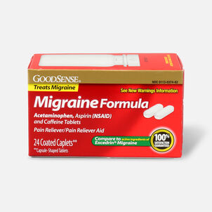 GoodSense® Migraine Relief CTD Caplet (APAP, Aspirin ,Caffeine)