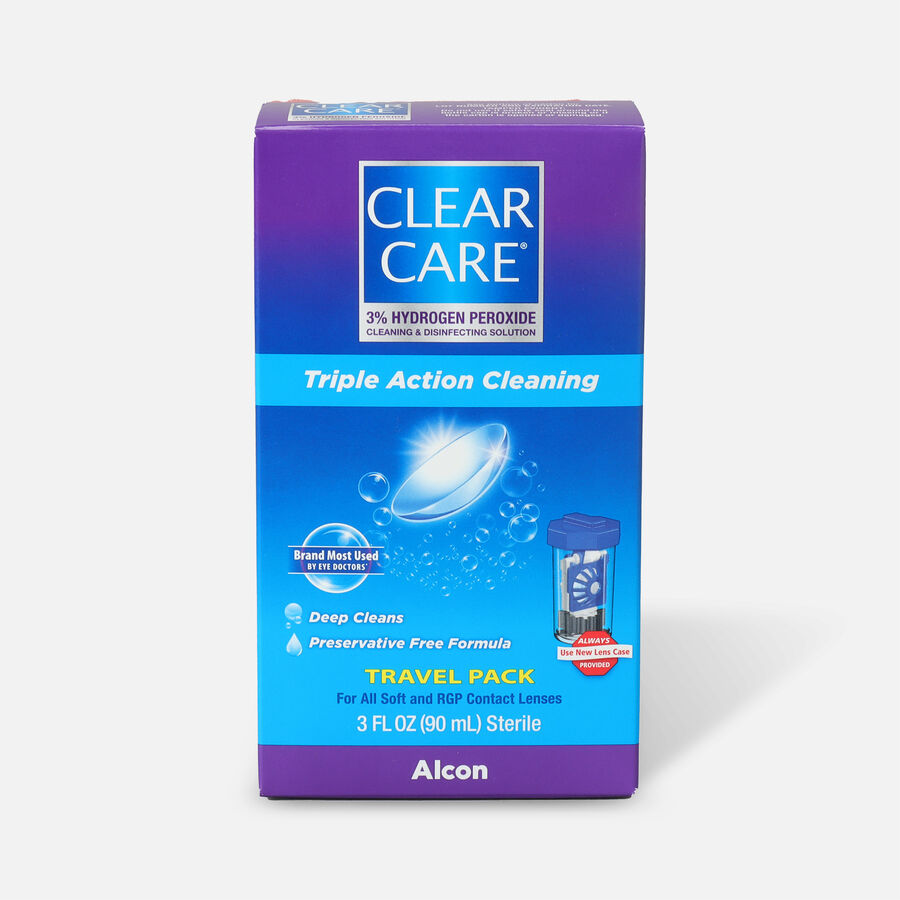 Clear Care Triple Action Cleaning Contact Travel Pack 3 oz, , large image number 0