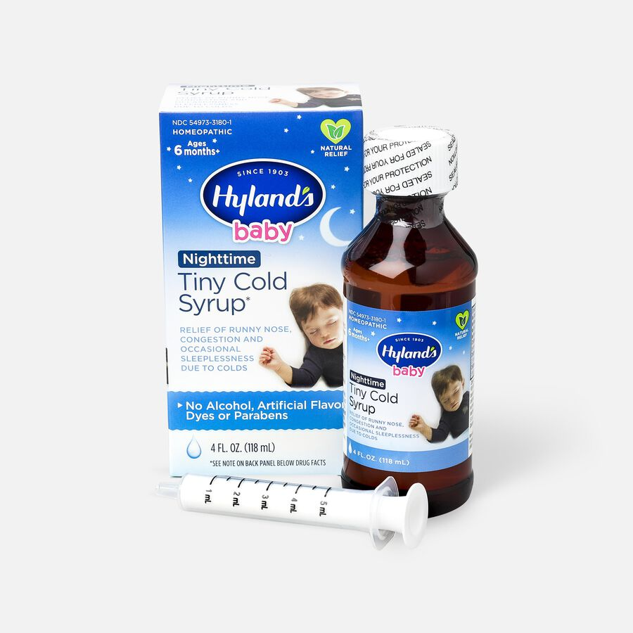 Hyland's Baby Nighttime Tiny Cold Syrup, 4 oz, , large image number 1