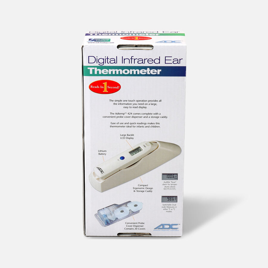 Adtemp Tympanic IR Ear Thermometer, Model 424, , large image number 4