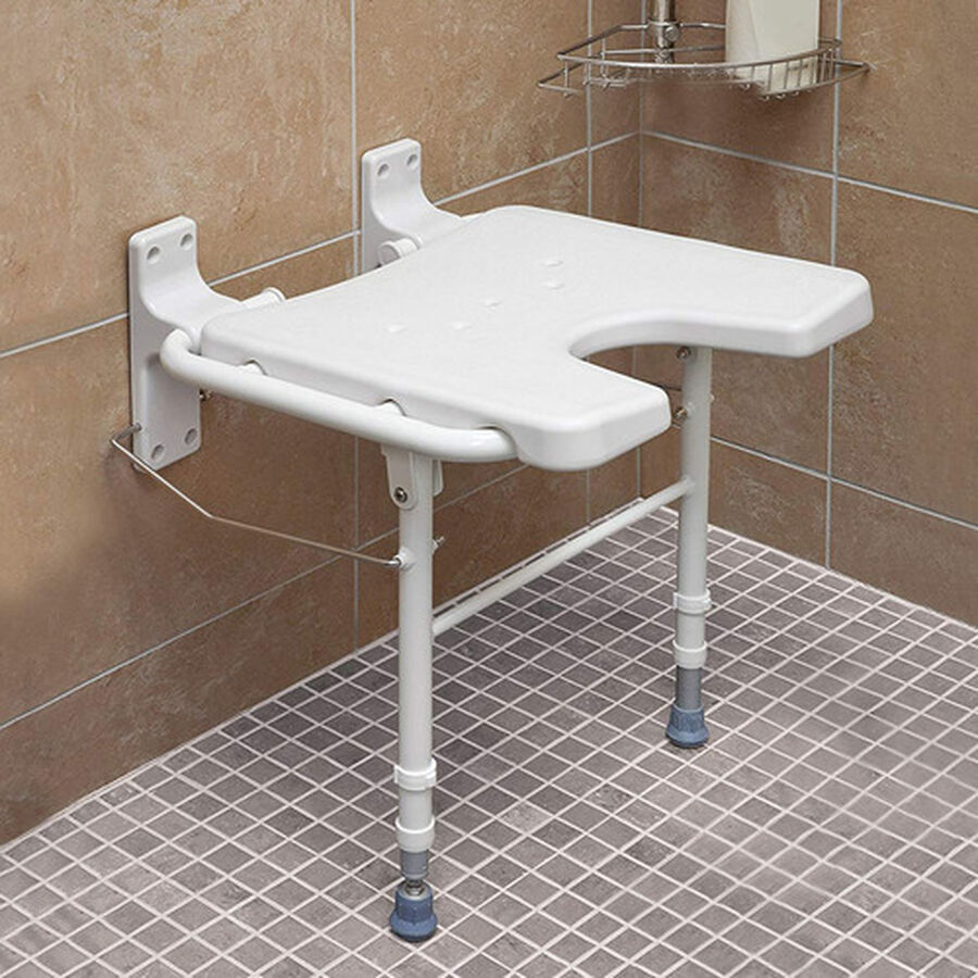 Healthsmart® Wall Mount Fold Away Shower Seat Bench, , large image number 4