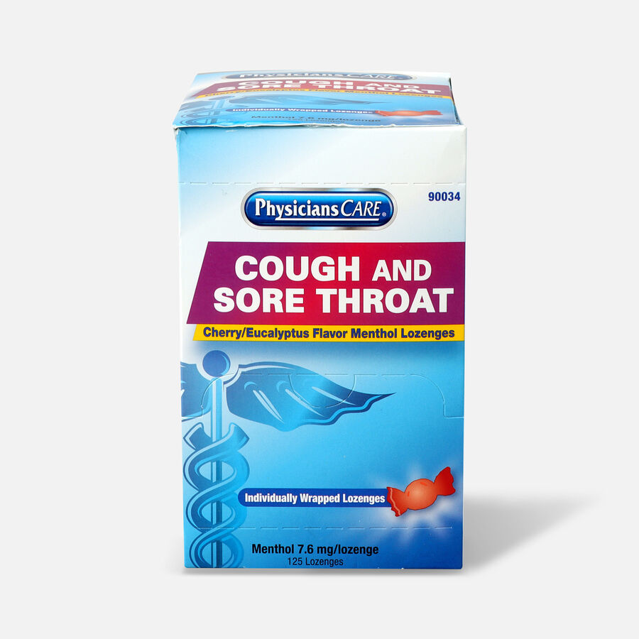 PhysiciansCare Cherry Flavor Cough and Throat Lozenges, 125/Box, , large image number 0