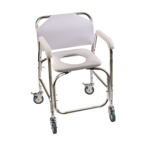 DMI Shower Transport Chair, w/Rear Wheels And Brakes