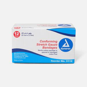 Dynarex Conforming Stretch Gauze Bandages Non Sterile, 12 Rolls