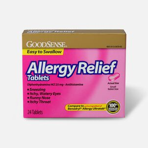 GoodSense® Allergy Relief 25 mg Tablets