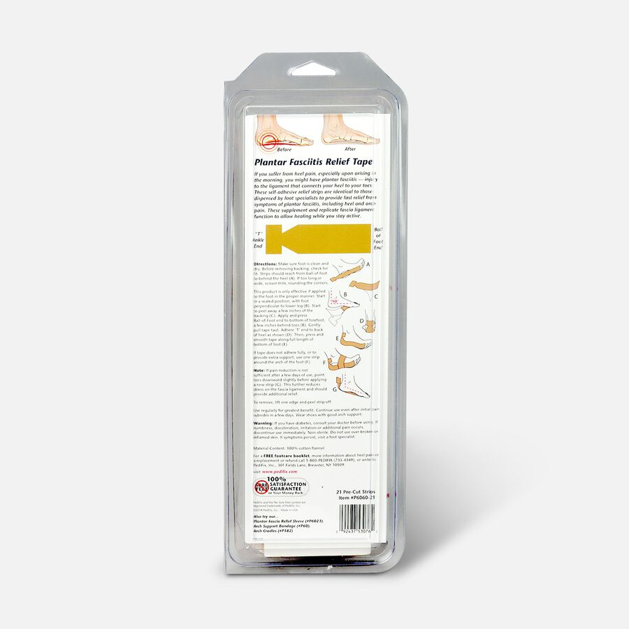 Plantar Fasciitis Relief Strips One Size Fits Most, , large image number 1