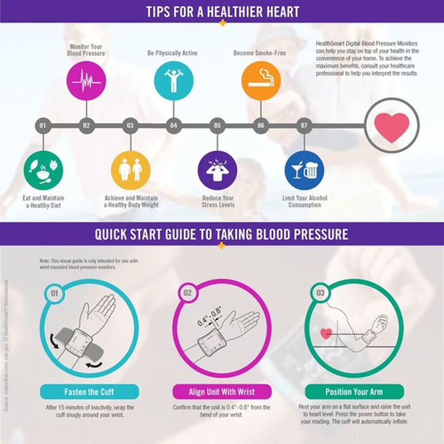 HealthSmart Standard Series LCD Wrist Digital Blood Pressure Monitor, , large image number 5
