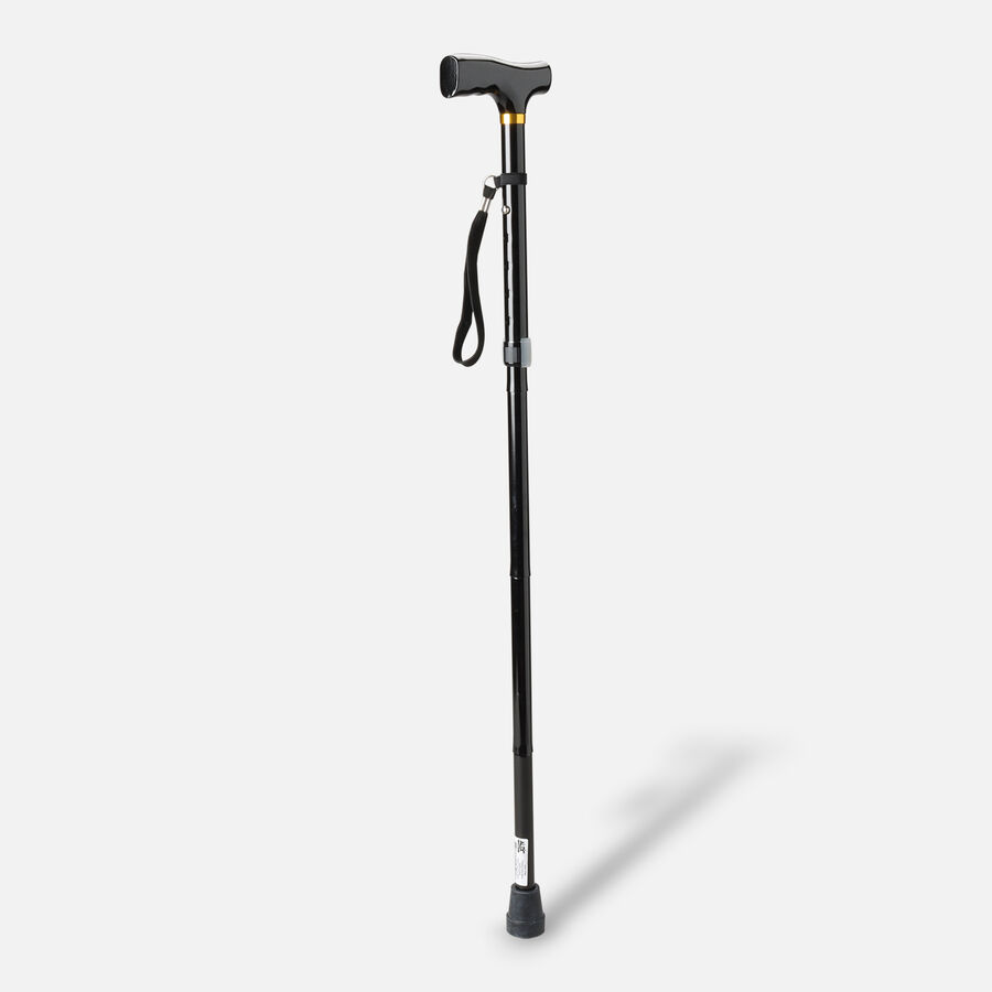Invacare Adjustable Black Folding Cane, 1 ea, , large image number 1
