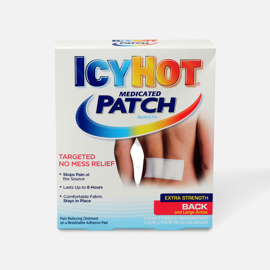 Icy Hot Medicated Back Patch, 5 ct., , large image number 0