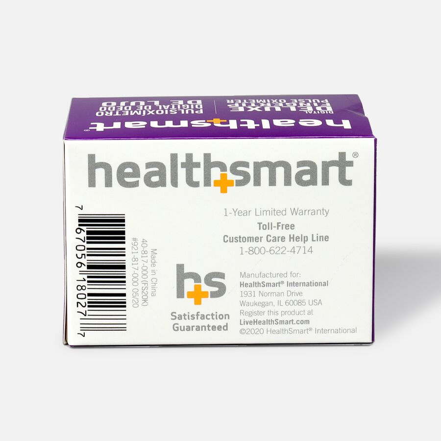 HealthSmart Pulse Oximeter Deluxe with 2-Color Display, , large image number 2