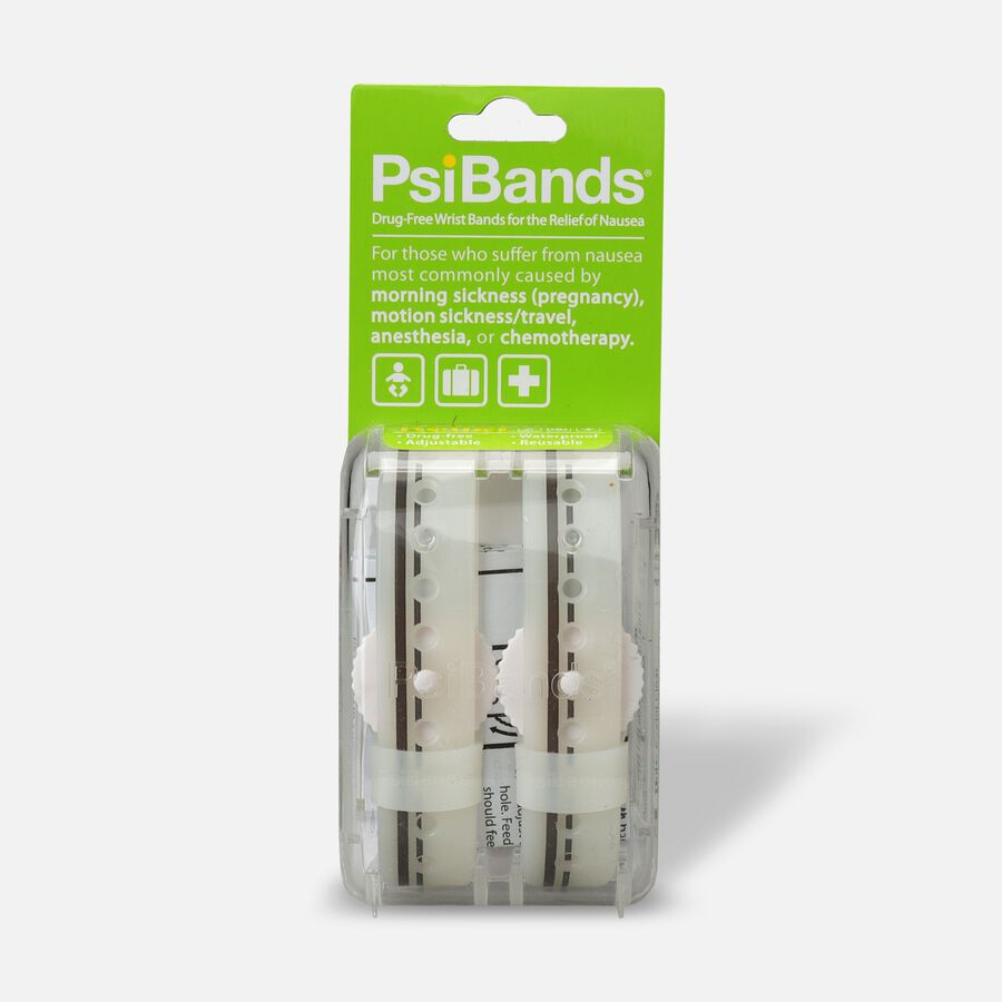 Psi Bands Nausea Relief Wrist Bands - Crystal Clear, Crystal Clear, large image number 0