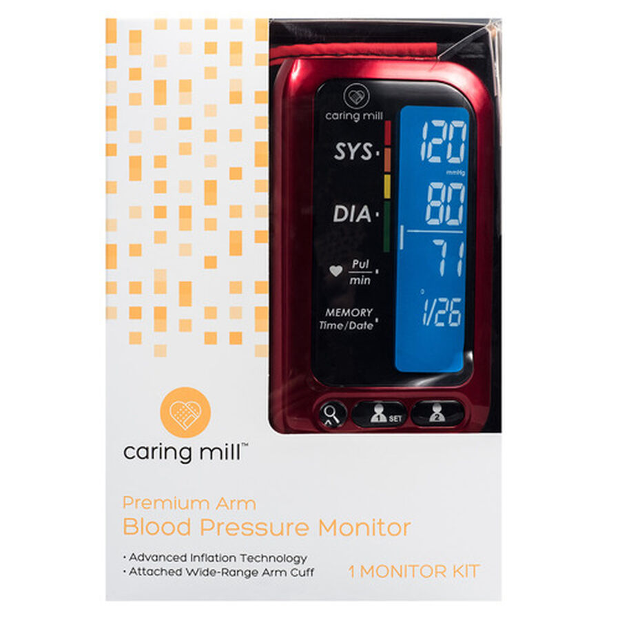 Caring Mill® Upper Arm Blood Pressure Monitor, , large image number 0