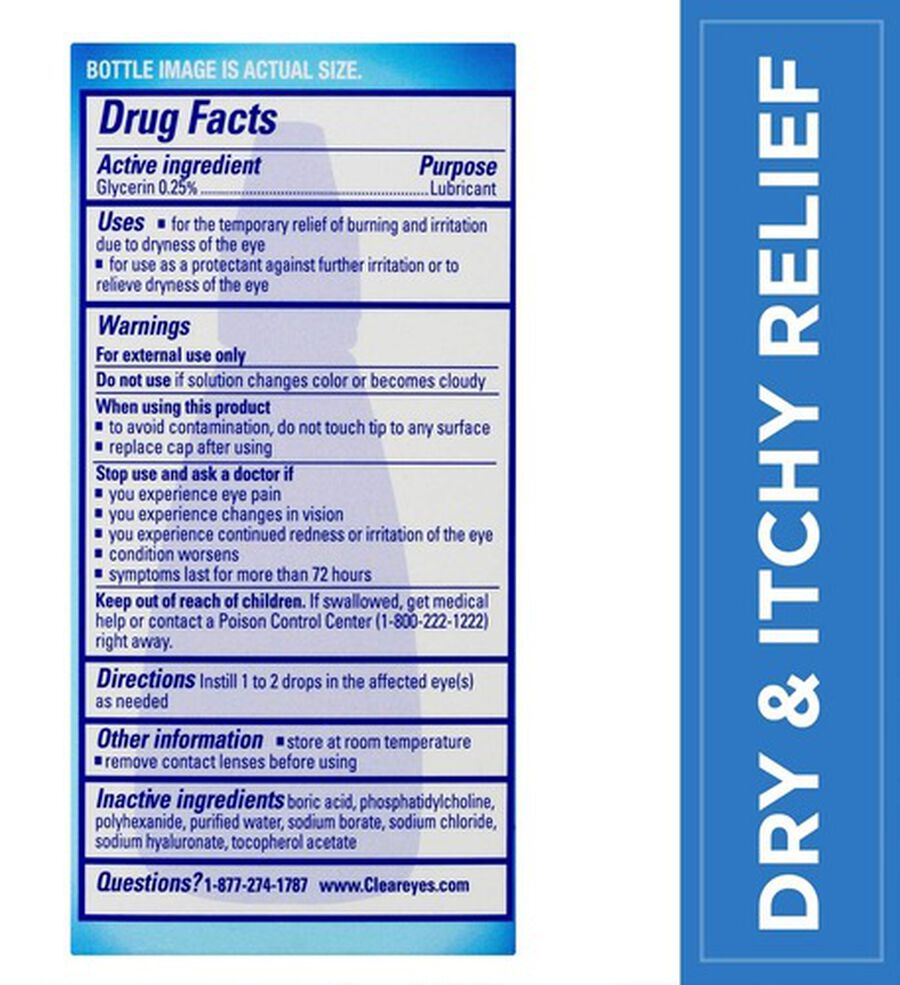 Clear Eyes Advanced Dry & Itchy Drops, .5 oz, , large image number 1