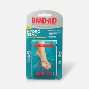 Band-Aid Hydro Seal Bandages Blister Cushion, Waterproof Blister Pad, Small 6 Count