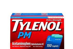 Tylenol PM Extra Strength Pain Reliever/Nighttime Sleep-Aid Caplets, 150 ct